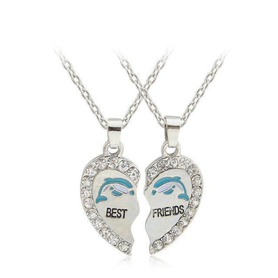 Best Friends Necklace Necklace Penguin Delivery Dolphin