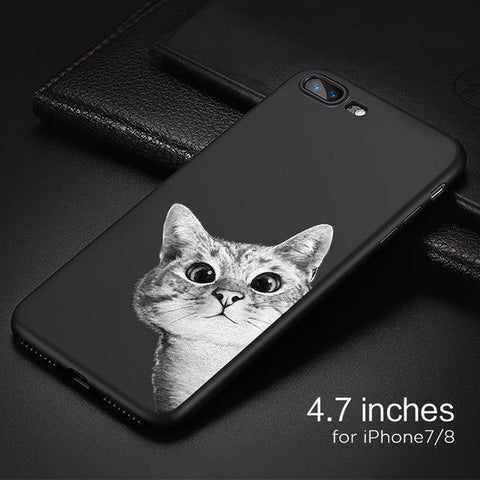 Black-Sky iPhone Case Phone Case Penguin Delivery for iphone 7 8 PC + TPU