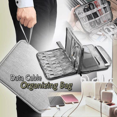 Cable Organizing Bag Storage Bags Penguin Delivery Gray S