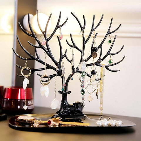 Deer Antlers Jewelry Stand Penguin Delivery Black