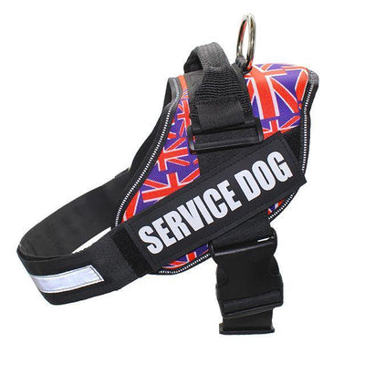 Emotional Support Dog Harness Harnesses FML PET Official Store UK flag S