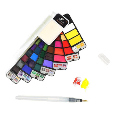 Foldable Watercolor Paint Set Water Color MEEDEN Art Supplies Store