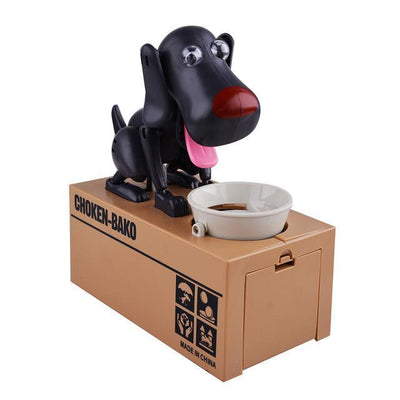 Greedy Dog Pet Bank Piggy Bank Penguin Delivery Black