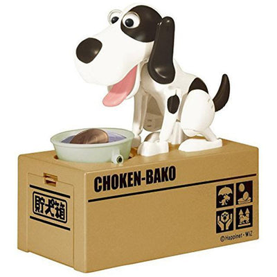 Greedy Dog Pet Bank Piggy Bank Penguin Delivery Black White Dog