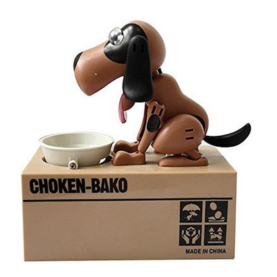 Greedy Dog Pet Bank Piggy Bank Penguin Delivery Brown Black Dog
