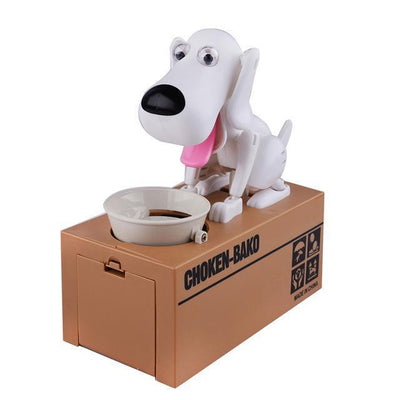 Greedy Dog Pet Bank Piggy Bank Penguin Delivery White Dog