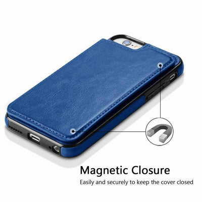 Leather Case for Iphone with Card Holder & Stand Function Flip Cases YISHANGOU OfficialFlagship Store