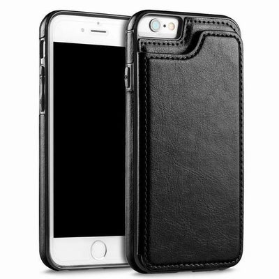 Leather Case for Iphone with Card Holder & Stand Function Flip Cases YISHANGOU OfficialFlagship Store Black For iPhone 5 5S SE