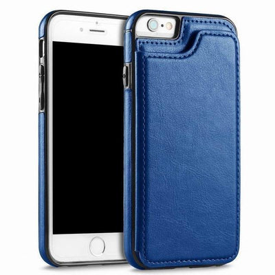 Leather Case for Iphone with Card Holder & Stand Function Flip Cases YISHANGOU OfficialFlagship Store Blue For iPhone 5 5S SE