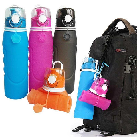 Lightweight Collapsible Silicone Water Bottle Penguin Delivery