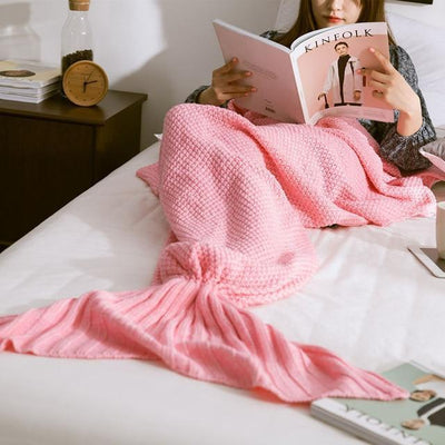 Mermaid Tail Blanket Blanket Penguin Delivery Pink 90X170CM