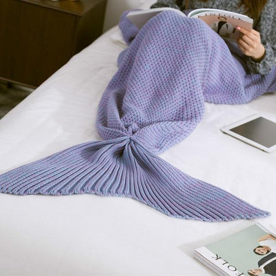 Mermaid Tail Blanket Blanket Penguin Delivery Purple 90X170CM