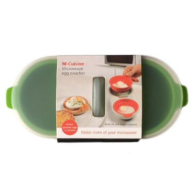 MICROWAVE PERFECT EGG POACHER Penguin Delivery GreenYellow