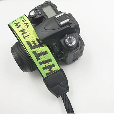 OFF-WHITE Camera Strap for Canon, Nikon, Sony, Leica, Olympus, Panasonic and more Camera Strap Octaim Offcial Store Green