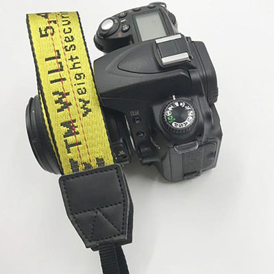 OFF-WHITE Camera Strap for Canon, Nikon, Sony, Leica, Olympus, Panasonic and more Camera Strap Octaim Offcial Store Yellow