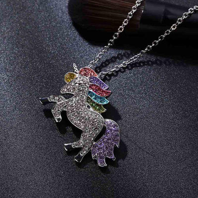 Rainbow Crystal Unicorn Set Charm Bracelets V-Blinging Jewellery Store