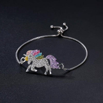 Rainbow Crystal Unicorn Set Charm Bracelets V-Blinging Jewellery Store Bracelet