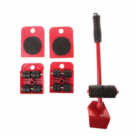RollEazy™ 4 Set Wheel Bar Roller Hand Tool Sets Uncle Bill Store Red