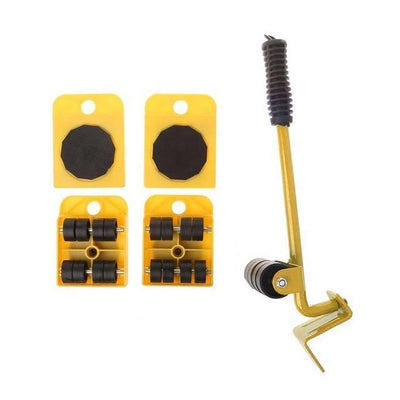 RollEazy™ 4 Set Wheel Bar Roller Hand Tool Sets Uncle Bill Store Yellow