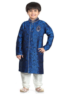 Party Wear Boys Kurta Pajama in Blue Color  - KB000310