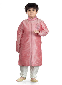Party Wear Boys Kurta Pajama in Pink Color  - KB000300