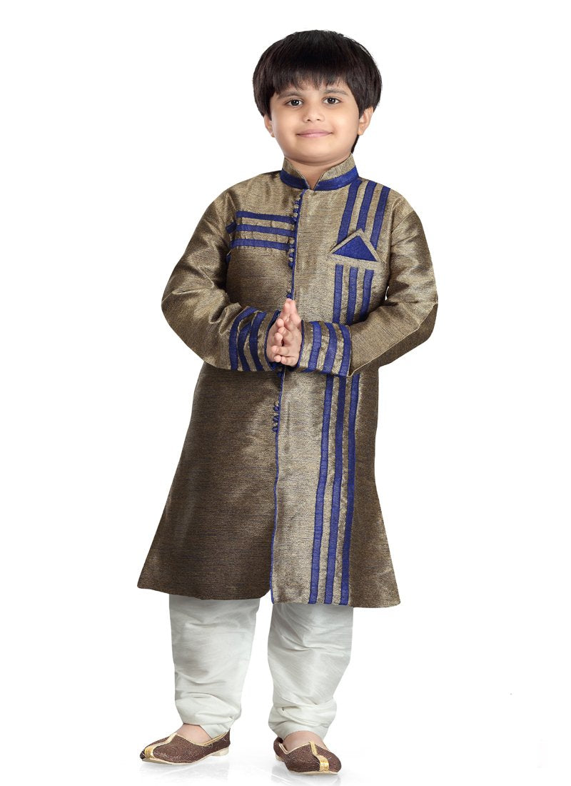 Party Wear Boys Kurta Pajama in Antique Color  - KB000308