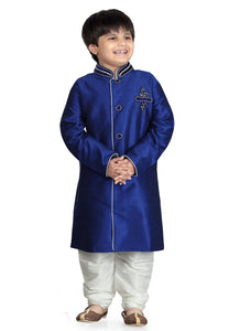 Party Wear Boys Kurta Pajama in Royal Blue Color  - KB000303