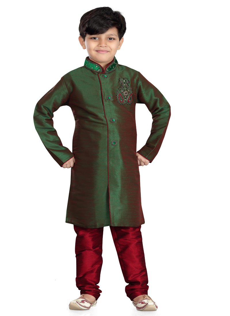Party Wear Boys Kurta Pajama in 2 Ton Color  - KB000304