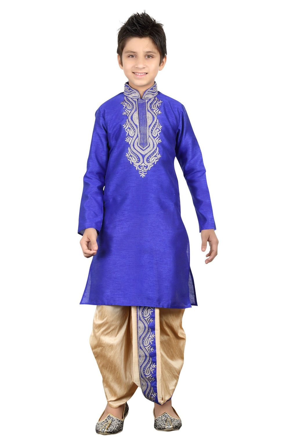 Party Wear Boys Kurta Pajama in Royal Blue Color  - KB000262