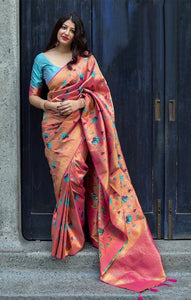 South Silk Designer Saree in Orange color  SR000572