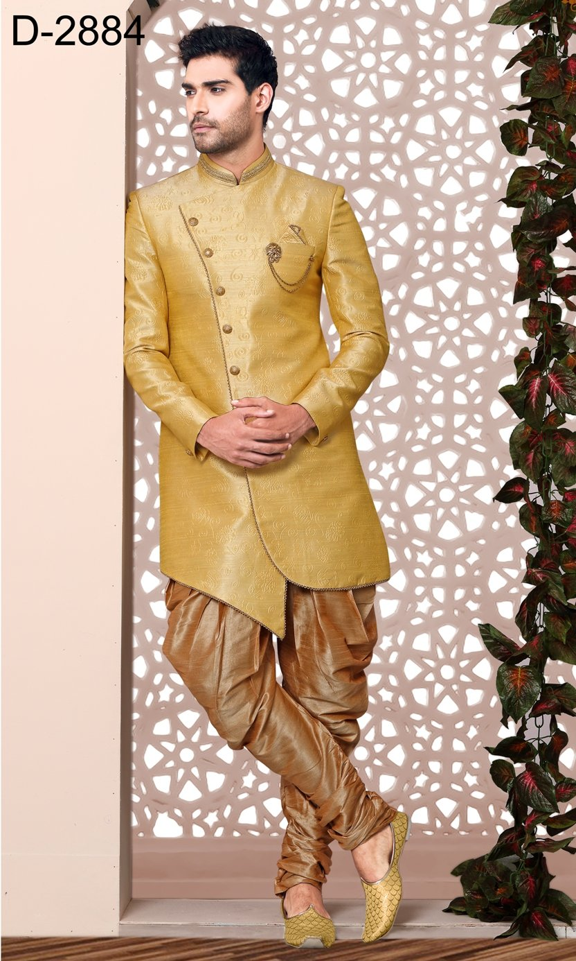 Party Wear Yellow Color Indo Western  - MWFU00089