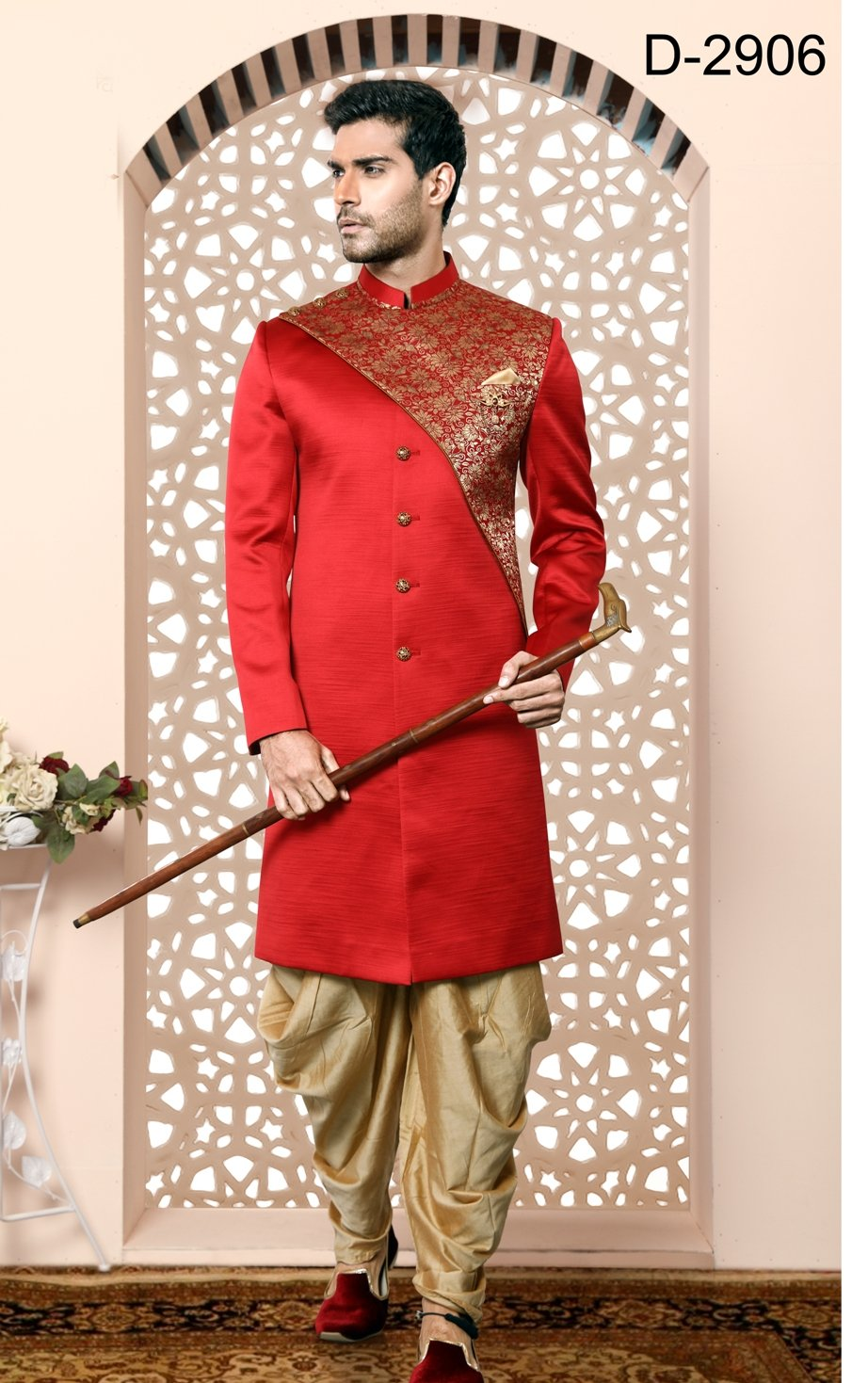 Party Wear Red Color Indo Western  - MWFU00091