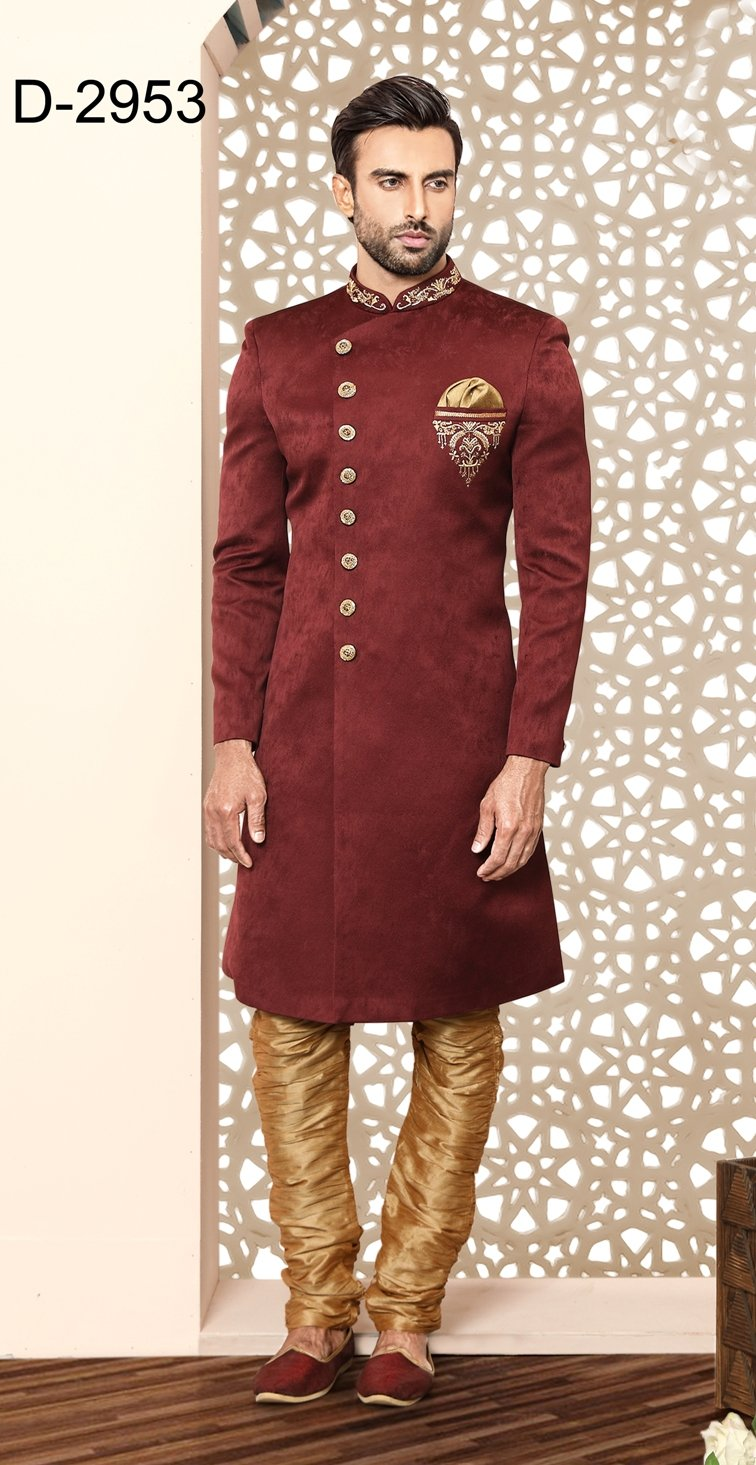 Party Wear Maroon Color Indo Western  - MWFU00092