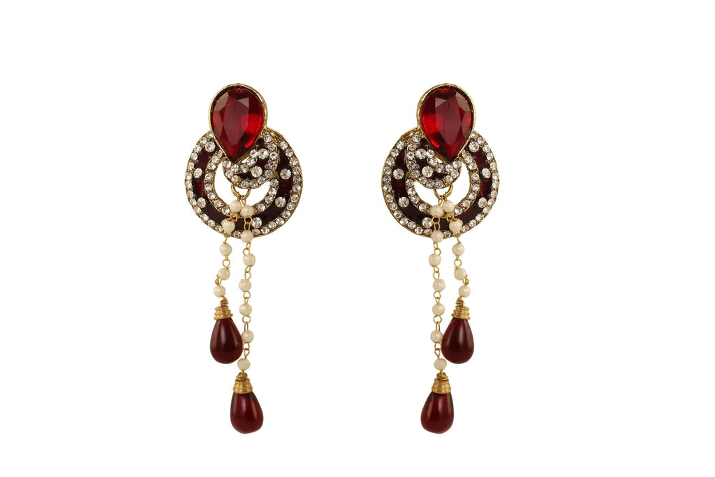 Maroon Color Ear Ring WMER000021