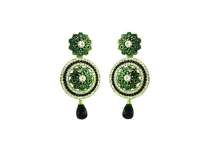 Green Color Ear Ring WMER000022