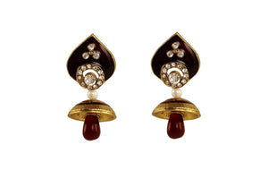 Maroon Color Ear Ring WMER000026