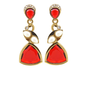 Red Color Ear Ring WMER000035