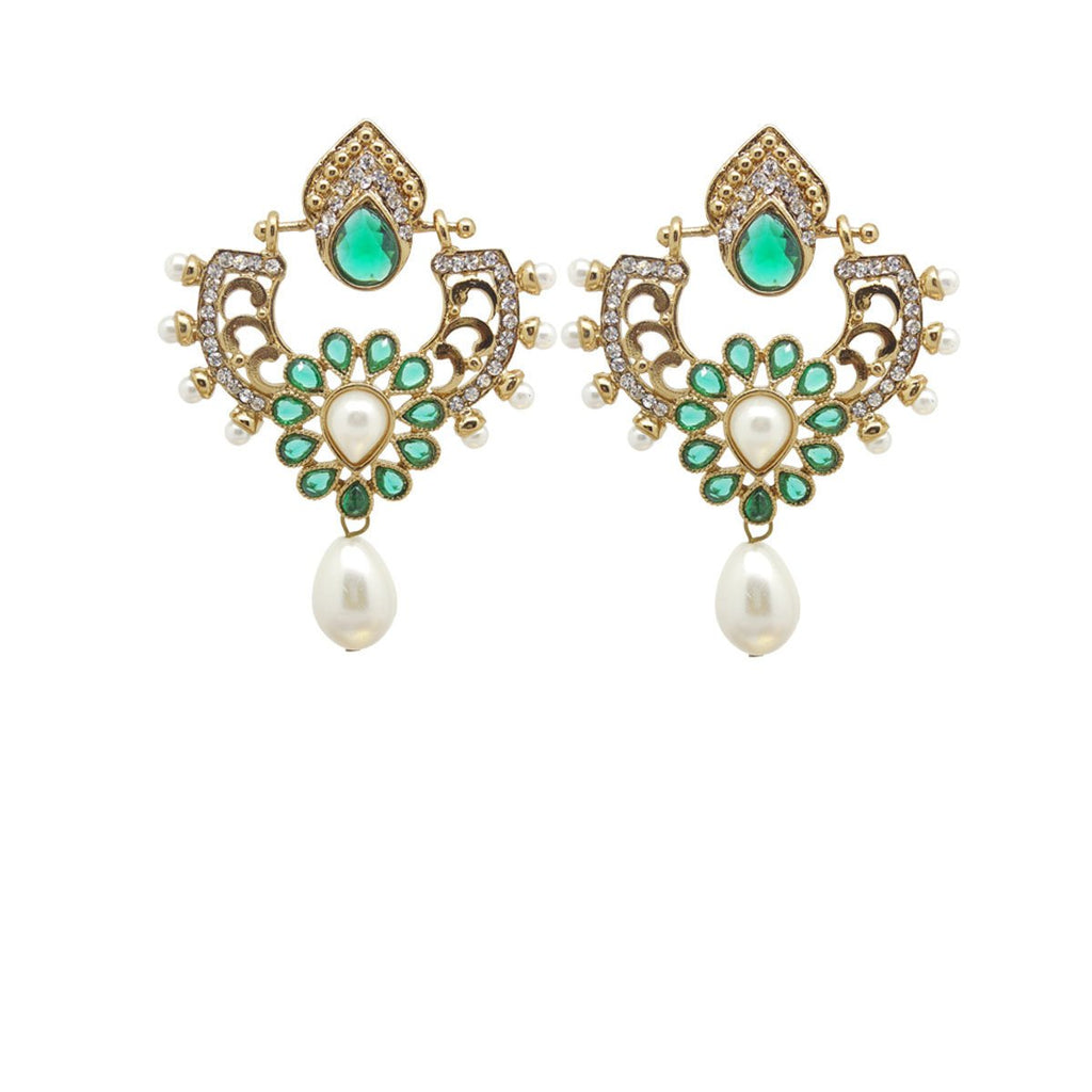 Green Color Ear Ring WMER000045