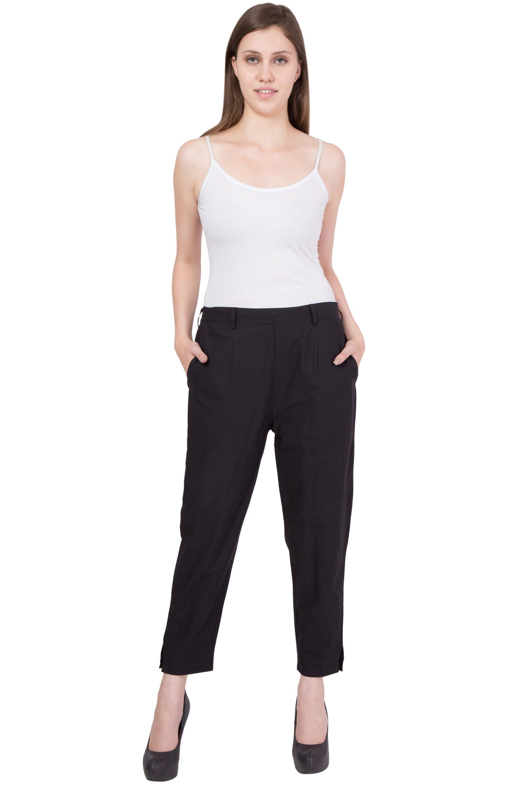 Cotton Pant  in Black Color  WMB000013