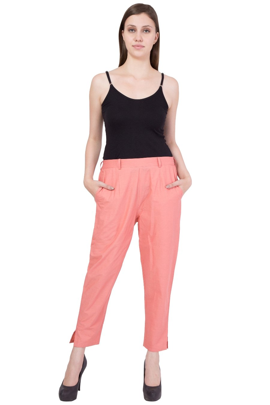 Cotton Pant  in Peach Color  WMB000017