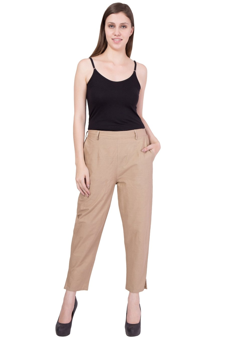 Cotton Pant  in Beige Color  WMB000016