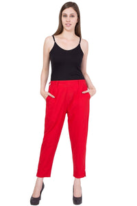 Cotton Pant  in Red Color  WMB000014