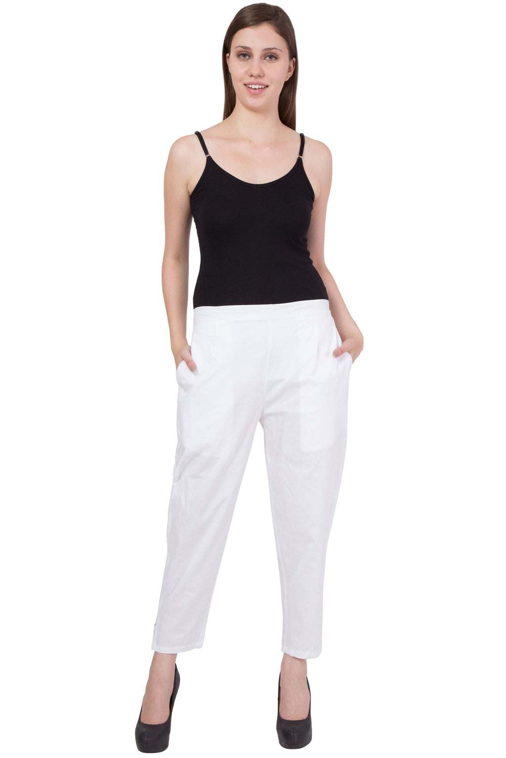 Cotton Pant  in White Color  WMB000015