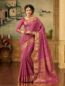 South Silk Saree in Pink Color SRSTH000076