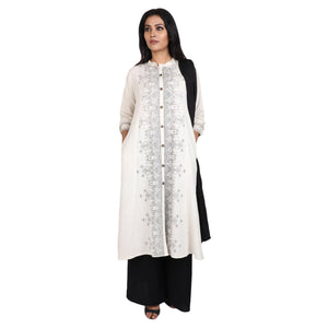 Cotton Readymade Suit in  Off White Color  WMSU00271
