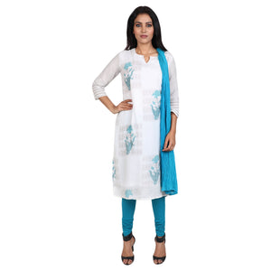 Cotton Readymade Suit in  White  Color  WMSU00278