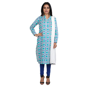 Cotton Readymade Suit in  See Green   Color  WMSU00289