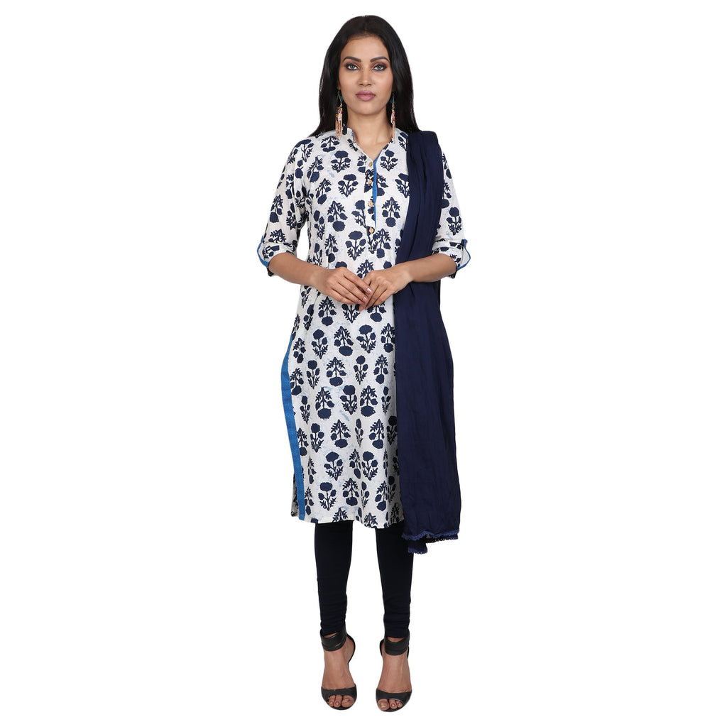 Cotton Readymade Suit in  White   Color  WMSU00292