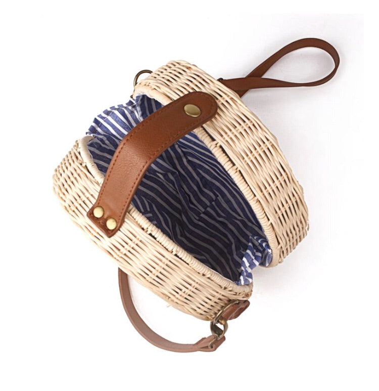 Handwoven Rattan Bamboo side bag