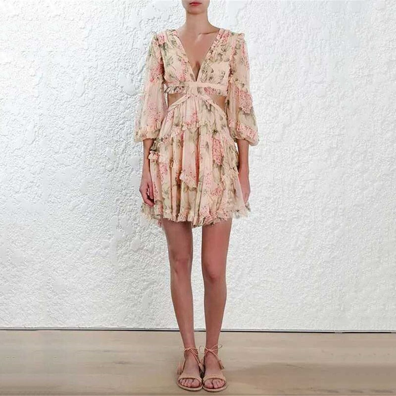 Hollow Out Summer Chiffon Dress